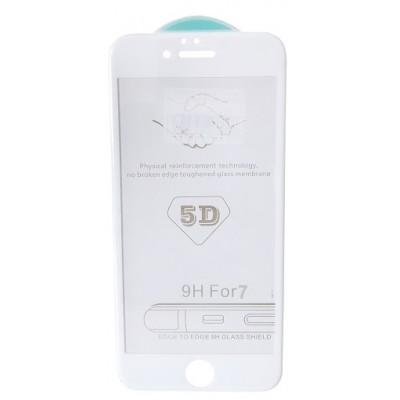 стекло 5D Strong for iPhone 7/8 white тех. пак.