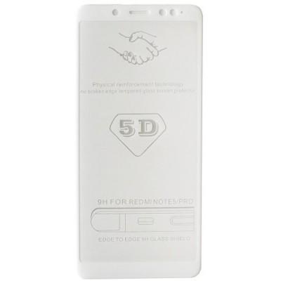 стекло 5D Strong for Xiaomi Redmi Note5 PRO white тех. пак.