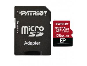 microSDXC (UHS-1 U3) Patriot EP Series 128Gb class 10 V30 (R-100MB/s, W-80MB/s) (adapter SD)