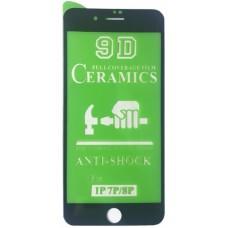 Защитное стекло CERAMIC iPhone 7 Plus/8 Plus Black тех упаковка