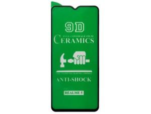 Защитное стекло CERAMIC Realmi 5 Black тех упаковка
