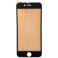Защитное стекло Ceramic MATTE iPhone 6/6S Black тех упак