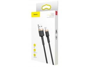 Кабель Baseus cafule Cable USB For lightning 1.5A 2M Gold+Black