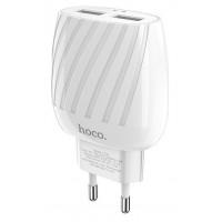 СЗУ HOCO C78A Max energy 2USB/2,4A/LED White
