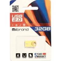 USB 2.0 Mibrand Hawk 32Gb Gold