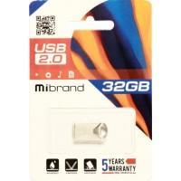 USB 2.0 Mibrand Hawk 64Gb Silver