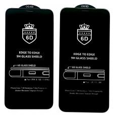 Защитное стекло 6D EDGE TO EDGE for Samsung A40 (A405) Black тех упаковка