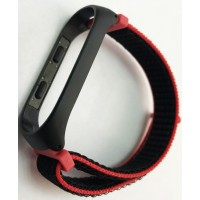 Ремешок Xiaomi Mi Band 3/4 Nylon NEW Sport Black-pink