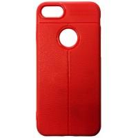 Силикон Auto Focus кожа iPhone 7/8 red