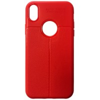 Силикон Auto Focus кожа iPhone XS Max red