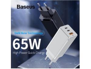 СЗУ Baseus GaN2 Pro Quick Charger 2C+U 65W EU Black