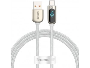 USB кабель Baseus Display Fast Charging Data Cable USB to Type-C 5A 1m White