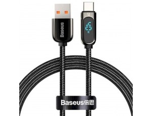 USB кабель Baseus Display Fast Charging Data Cable USB to Type-C 5A 2m Black