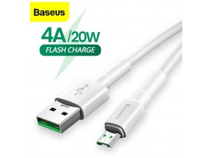 Кабель Baseus Mini White Cable USB For Micro 4A 2m White