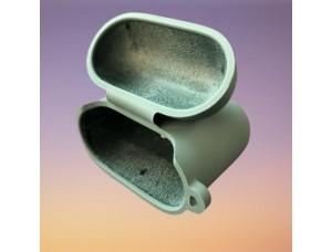 Чехол for AirPods 1/2 SILICONE CASE/MICROFIBER Lavander