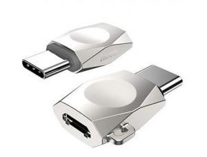 Переходник HOCO UA8 MicroUSB to Type-C Adapter Silver-Nickel