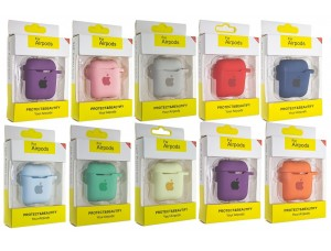 Чехол AIRPODS Silicone case NEW (№51) Mellow yellow