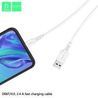 Кабель Denmen D06L USB - Lightning 2.4A/1m Black