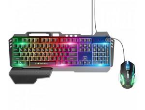 Клавиатура и мышь HOCO GM12 Light and shadow RGB gaming Black