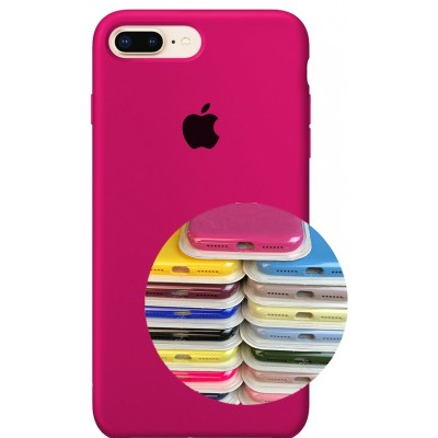 Silicone Case Full for iPhone 7/8Plus (47) hot pink