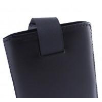 Чехол-вытяжка Grand Nokia 108/Ergo F181/F185 (кожа) Чёрный