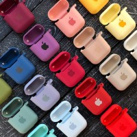 Чехол for AirPods SILICONE CASE Rose red