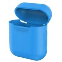 Чехол for AirPods силиконовый SLIM тех.пак Light blue